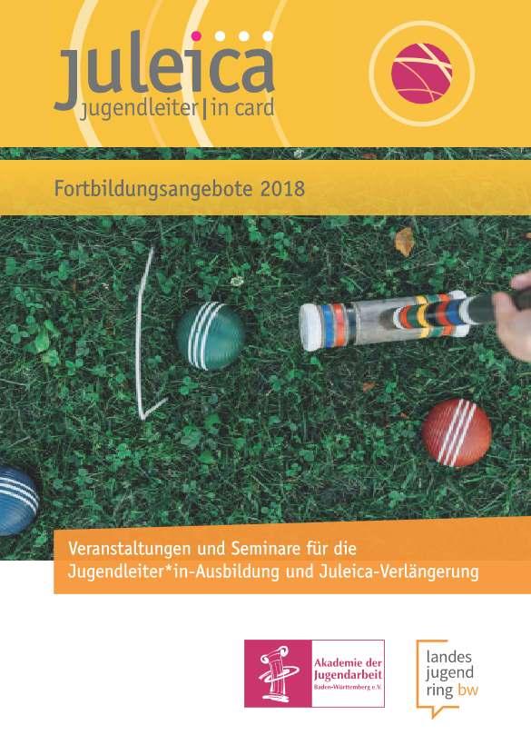 Flyer-Deckblatt des Juleica-2018-Flayers