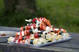 Gemüsespieße für die Sommermitgliederversammlung