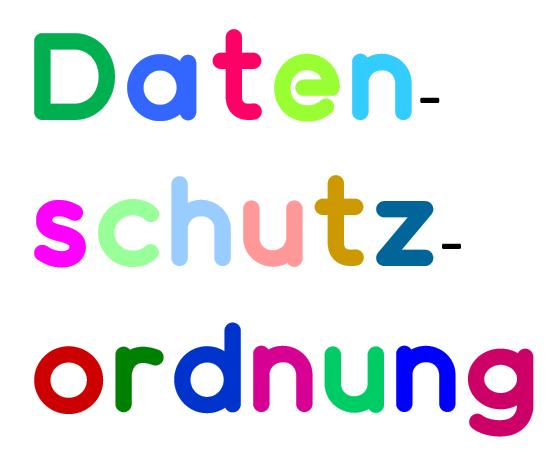 """Schriftzug """"Datenschutzordnung"""""""