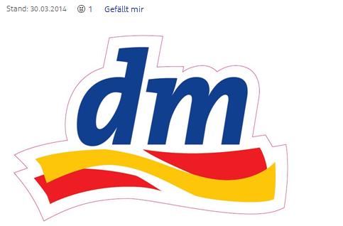 Logo des Drogeriemarkts dm
