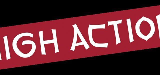 """Schriftzug """"High Action"""", teil des Logos"""